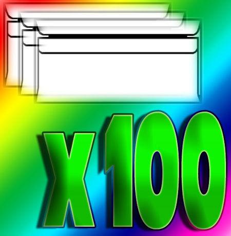 Office: 100x herlitz Briefumschlag, DIN lang, mit Fenster, weiß
