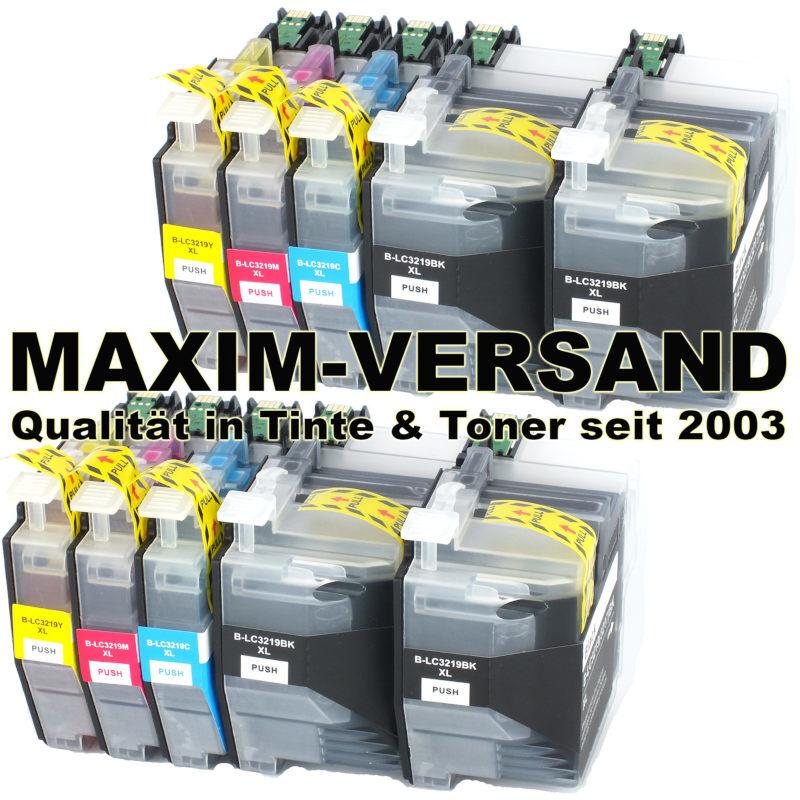 Brother LC-3219 XL Black, Cyan, Yellow, Magenta - kompatibel - Multipack (10er Set)