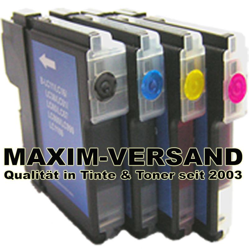 Patronen für Brother LC-980 / LC-985 / LC-1100 BK+C+Y+M kompatibel (4er Set)