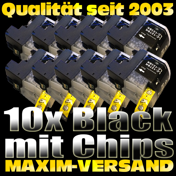 Set ersetzt Multipack Brother LC-127 Black (wide) kompatibel x 10