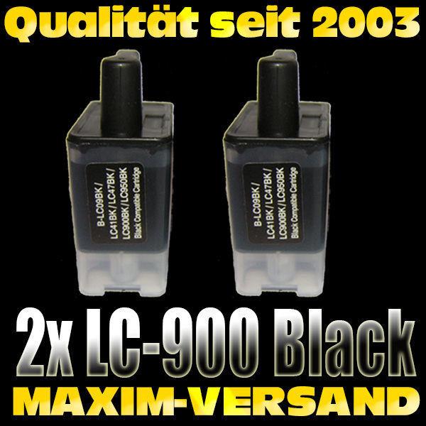Brother LC-900 Black kompatibel x 2