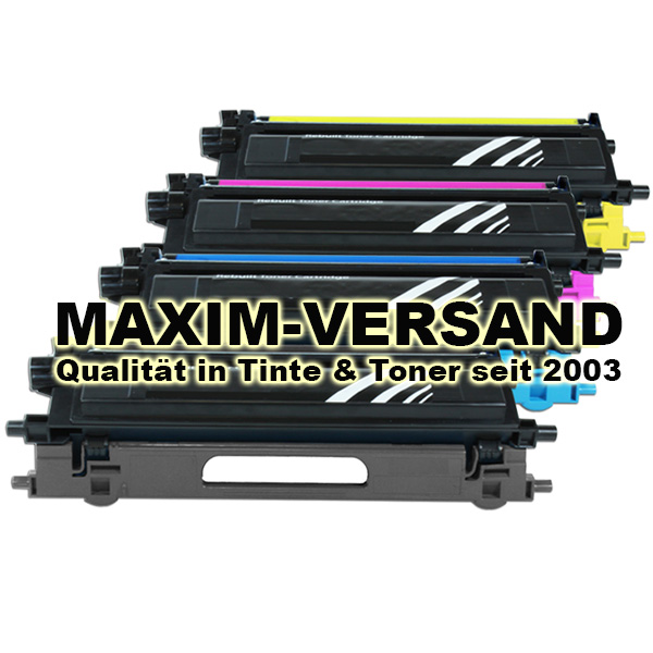 Brother TN-135 kompatibel - Black, Cyan, Yellow, Magenta - 4er Toner-Set