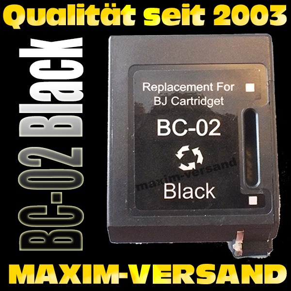 Canon BC-02 - recycelt - schwarz / black