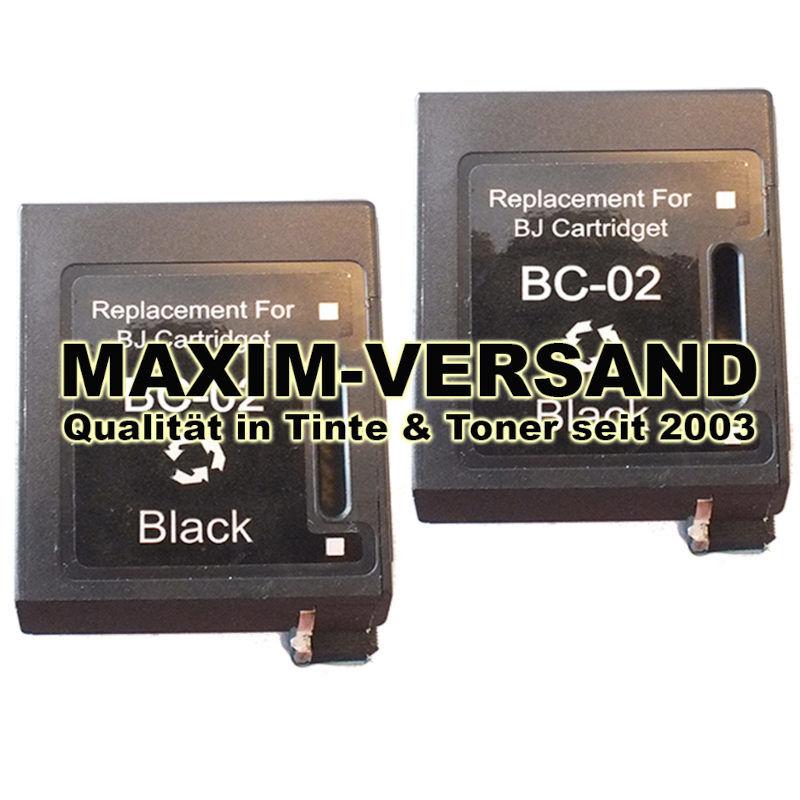 Druckerpatronen Set ersetzt Multipack Canon BC-02 kompatibel x 2