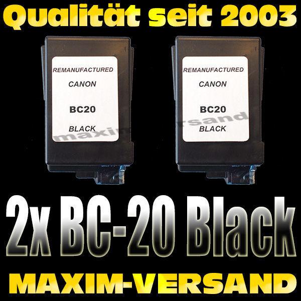 Druckerpatronen Set ersetzt Multipack Canon BC-20 kompatibel x 2