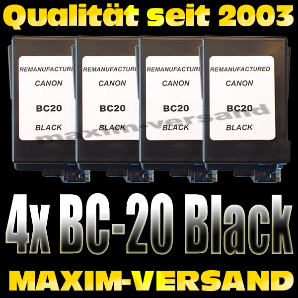 Canon BC-20 kompatibel x 4