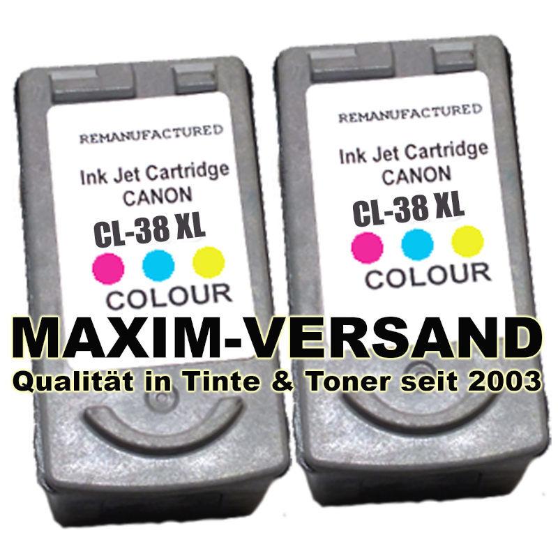 Canon CL-38 - recycelt - 3-farbig / color x2