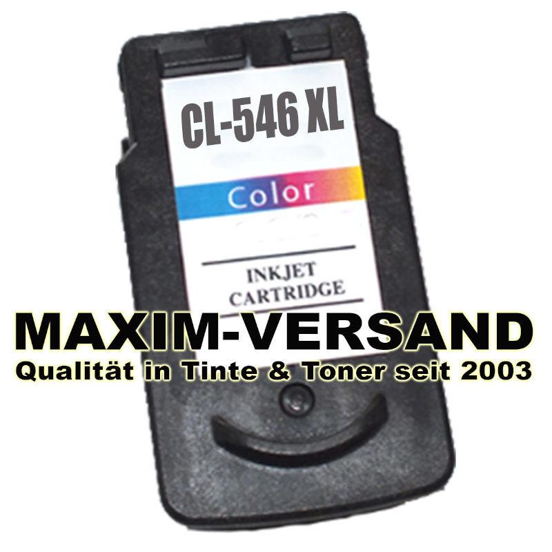 Color Druckkopfpatrone die alle 3 Grundfarben Cyan, Yellow und Magenta in einer Tintenpatrone vereint - hier am Beispiel einer Canon CL-546 XL.