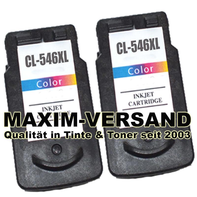 Canon CL-546 XL - recycelt - 3-farbig / tri-color x 2