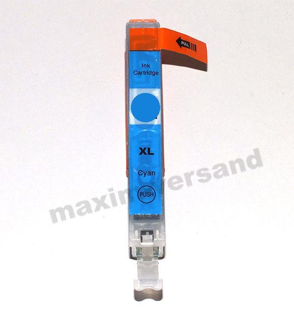 Reinigungspatrone für Canon CLI-521 C - blau / cyan - mit Chip