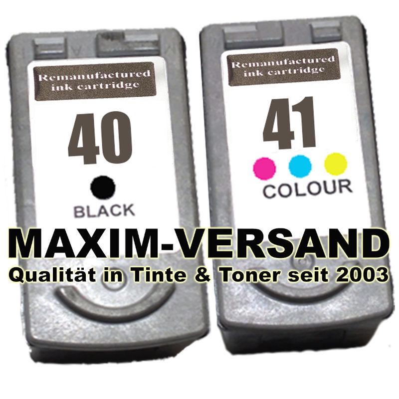 Druckerpatronen ersetzen Canon PG-40 + CL-41 kompatibel (2er Set)