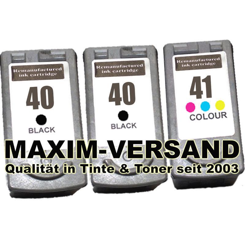 Druckerpatronen ersetzen Canon PG-40 x 2 + CL-41 kompatibel (3er Set)