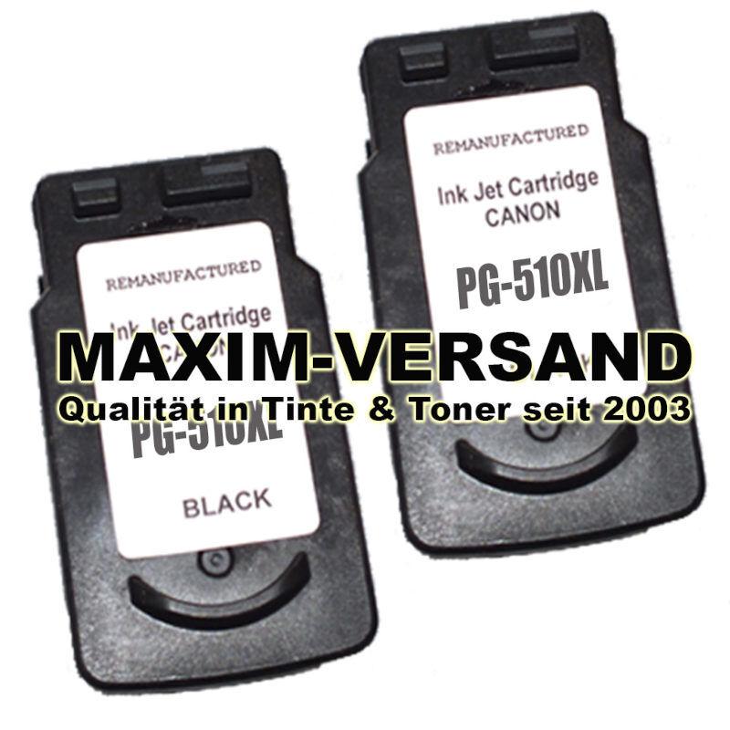 Druckerpatronen Set ersetzt Multipack Canon PG-510 x 2 - kompatibel