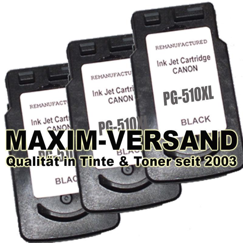 Druckerpatronen Set ersetzt Multipack Canon PG-510 x 3 - kompatibel