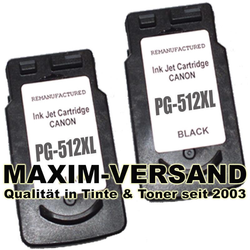 Druckerpatronen Set ersetzt Multipack Canon PG-512 x 2 - kompatibel