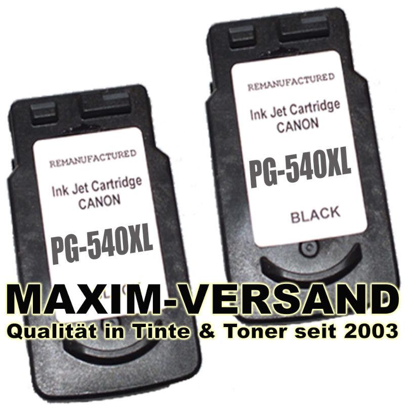 Druckerpatronen Set ersetzt Multipack Canon PG-540 XL x 2 kompatibel