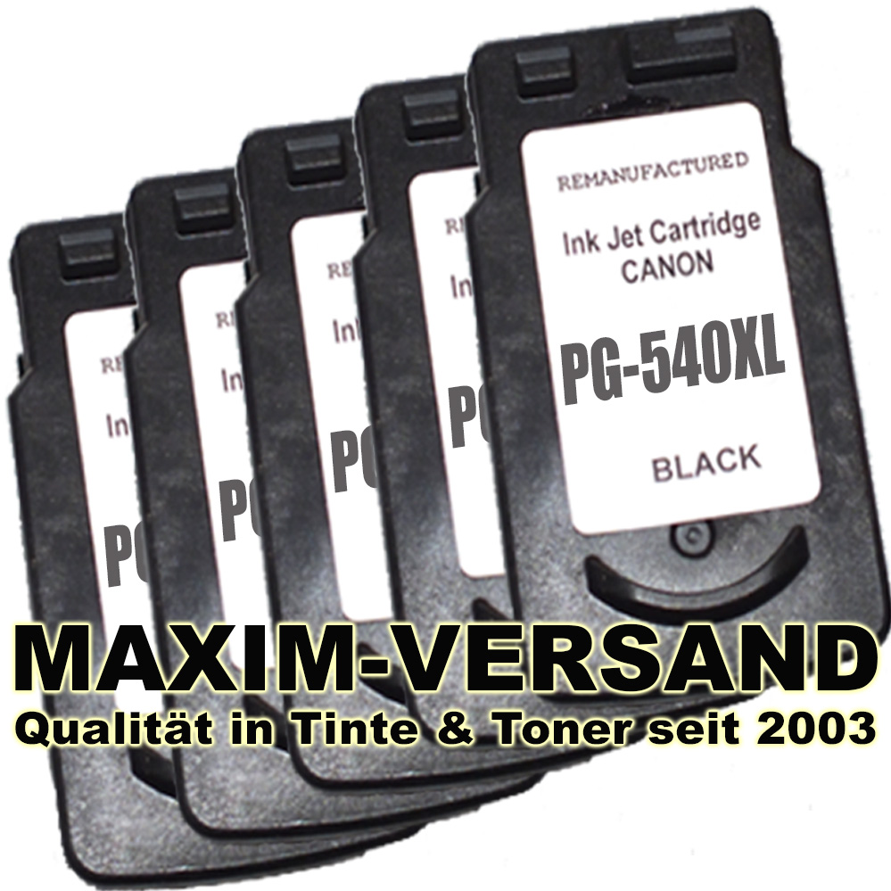 Druckerpatronen Set ersetzt Multipack Canon PG-540 XL x 5 kompatibel