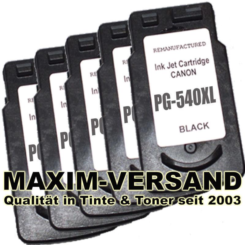 Canon PG-540 XL x 5 kompatibel