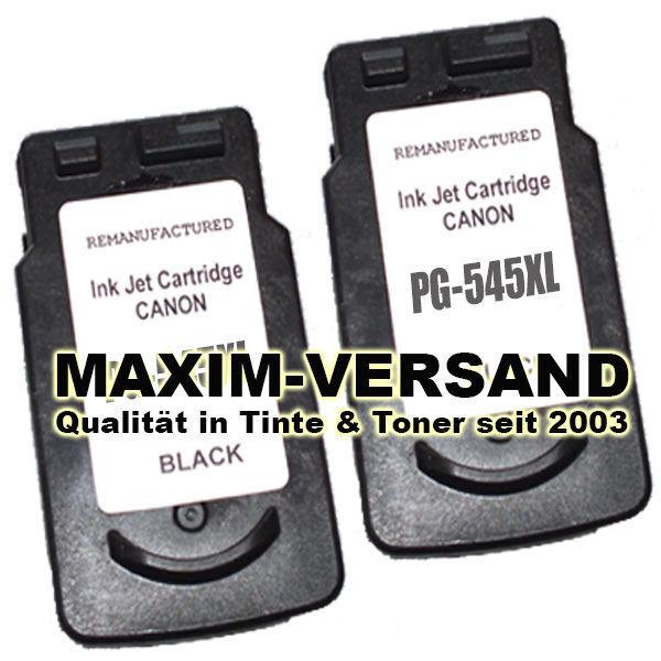 Druckerpatronen Set ersetzt Canon PG-545 XL Black kompatibel x 2