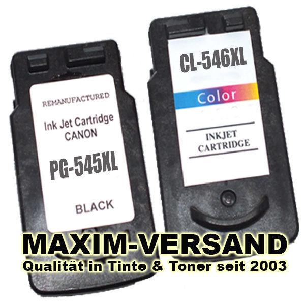 Patronen ersetzen Canon PG-545 XL + CL-546 XL kompatibel (2er Set)