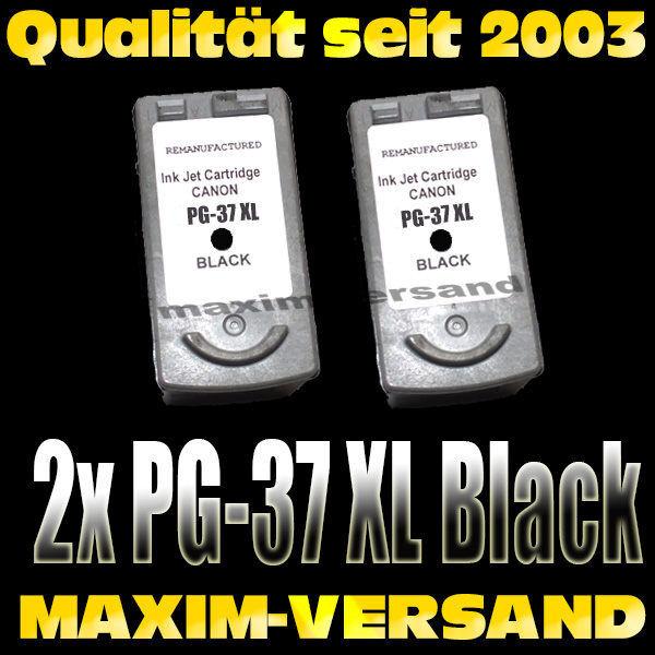 Druckerpatronen Set ersetzt Multipack Canon PG-37 x 2 kompatibel