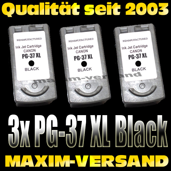 Druckerpatronen Set ersetzt Multipack Canon PG-37 x 3 kompatibel