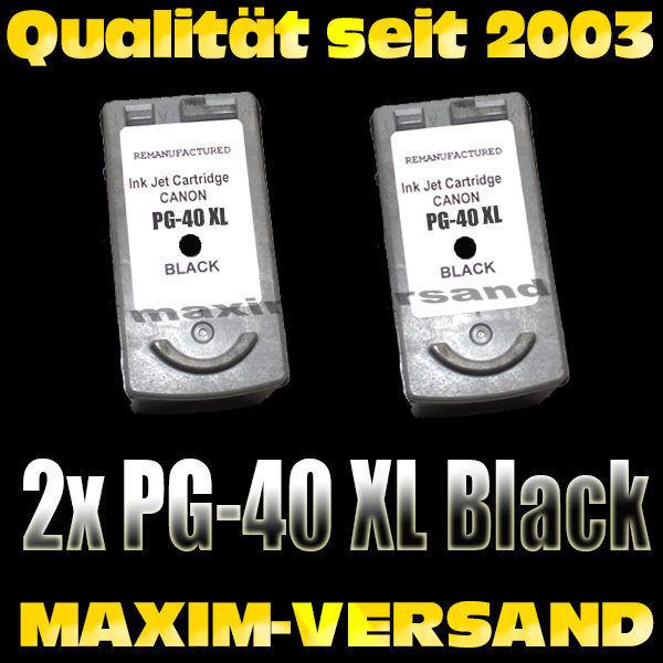 Druckerpatronen Set ersetzt Multipack Canon PG-40/50 kompatibel x 2