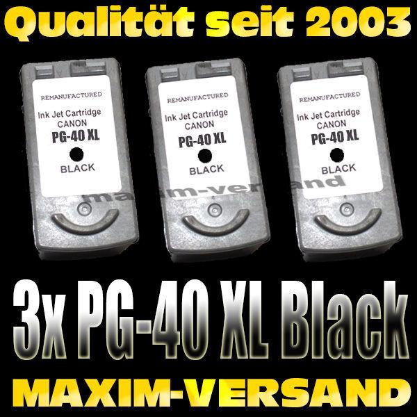 Druckerpatronen Set ersetzt Multipack Canon PG-40/50 kompatibel x 3