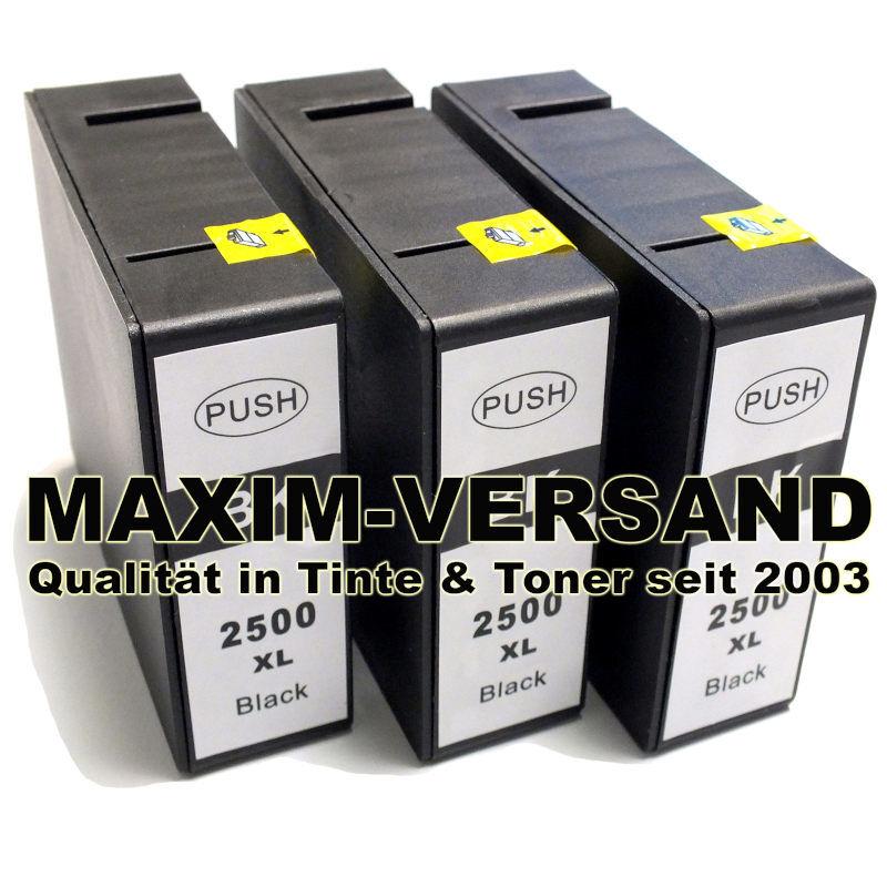 Canon PGI-2500 Black - kompatibel x 3