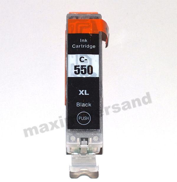 Canon PGI-550PGBK XL schwarz / black - kompatibel MIT CHIP