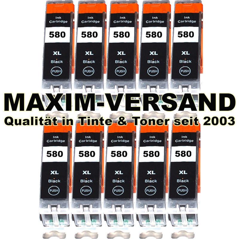 Canon PGI-580 PGBK XL - schwarz / black - kompatibel - Druckerpatronen (10er Set)