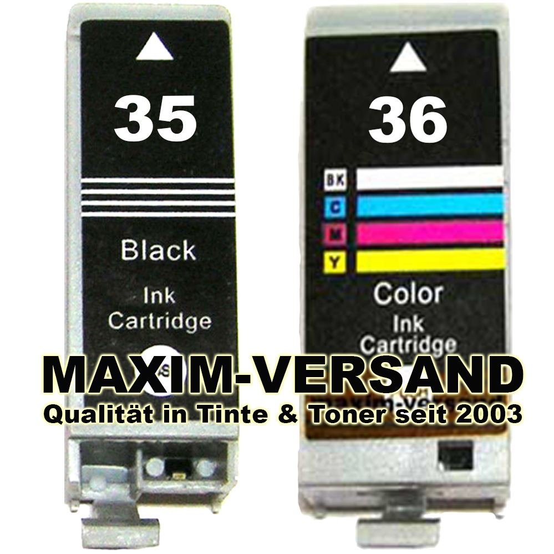 Druckerpatronen Set ersetzt Multipack Canon PGI-35 + CLI-36 kompatibel