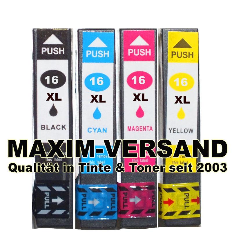 Epson T1631, T1632, T1633, T1634 kompatibel - ersetzen Multipack 16XL (4er Set)