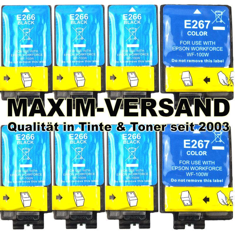 Epson 266 + 267 kompatibel Multipack Tintenpatronen mit Chips (8er Set)
