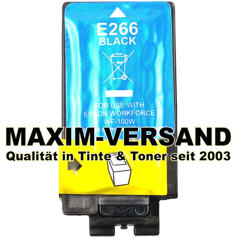 Epson 266 - kompatibel - black / schwarz - Tintenpatrone mit Chip
