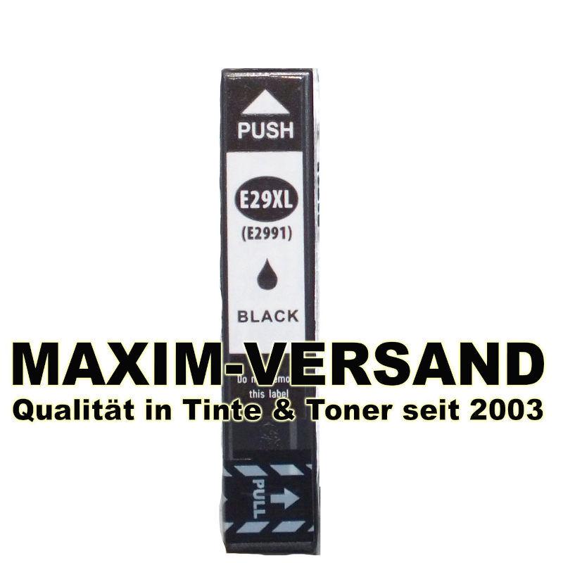 Epson T2981, T2991 (29, 29XL) - kompatibel - schwarz / black - mit Chip
