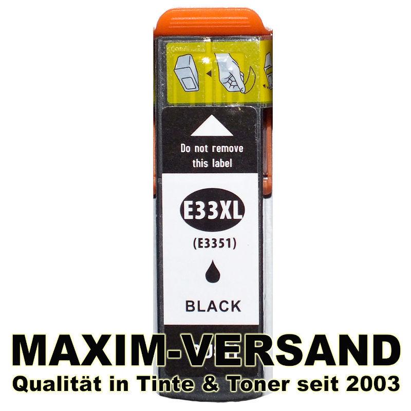 Epson T3351 (33XL) - kompatibel - schwarz / black - mit Chip