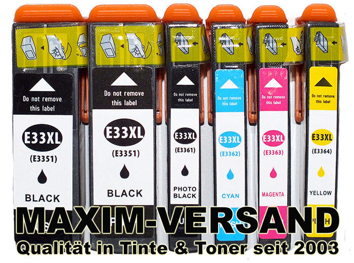 Epson Multipack 33 XL kompatibel Tintenpatronen Set