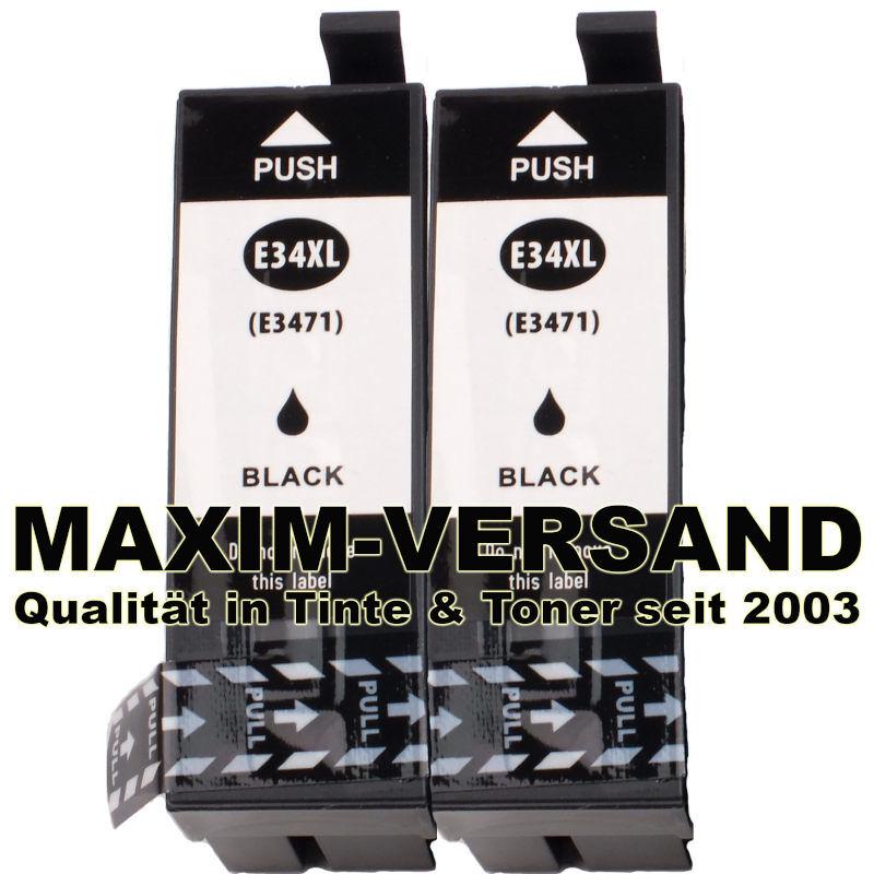 Set für Epson T3471 (34XL) - kompatibel - schwarz / black - (2er Pack)