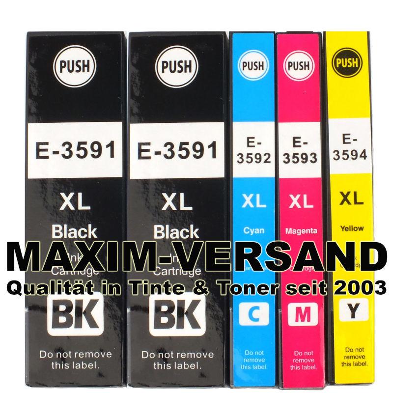 Epson T3591, T3592, T3593, T3594 kompatibel Multipack (35XL) (5er Set)
