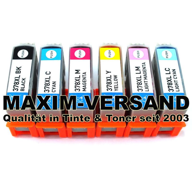 Patronen für Epson 378 XL kompatibel Multipack Tintenpatronen (6er Set)