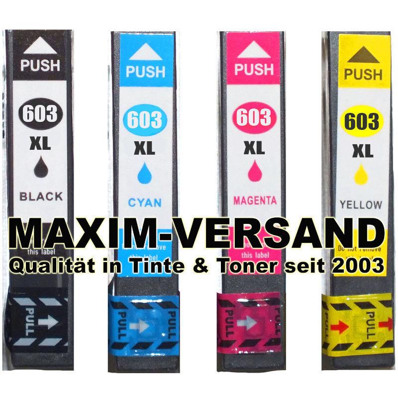 Epson 603 XL kompatibel Multipack Tintenpatronen mit Chips (4er Set)