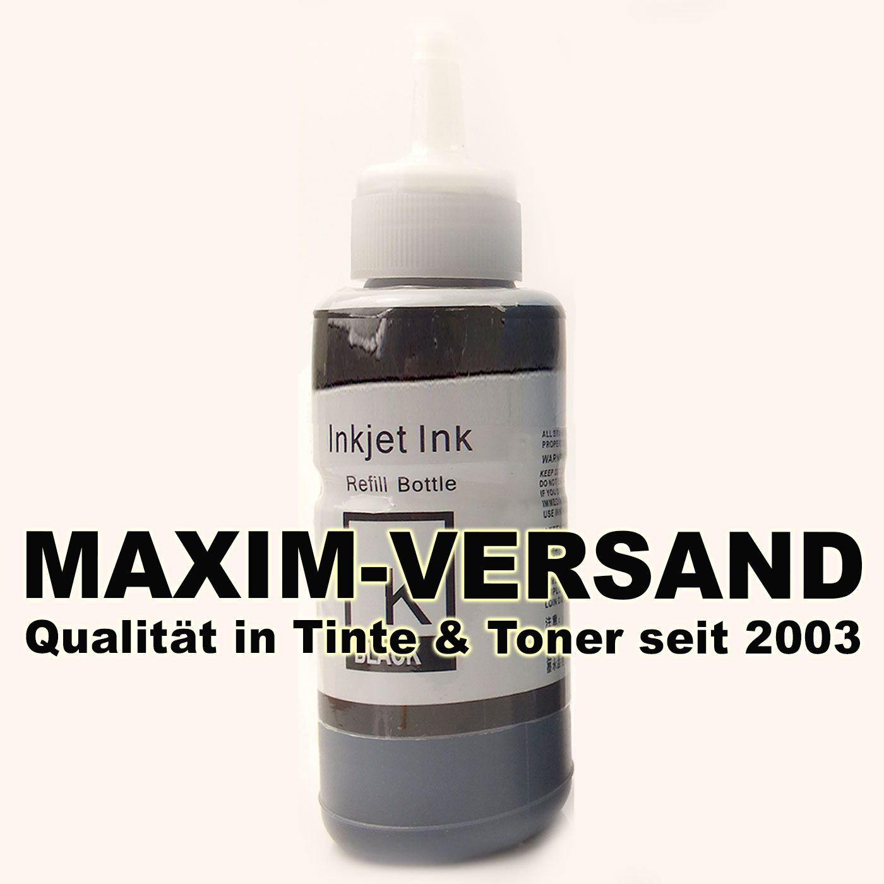 Tinten-Flasche ersetzt Epson EcoTank 664 - T6641 - black / schwarz - 70 ml