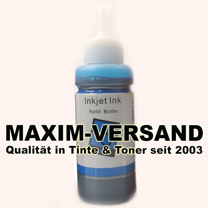 Tinten-Flasche ersetzt Epson EcoTank 664 - T6642 - cyan / blau - 70 ml
