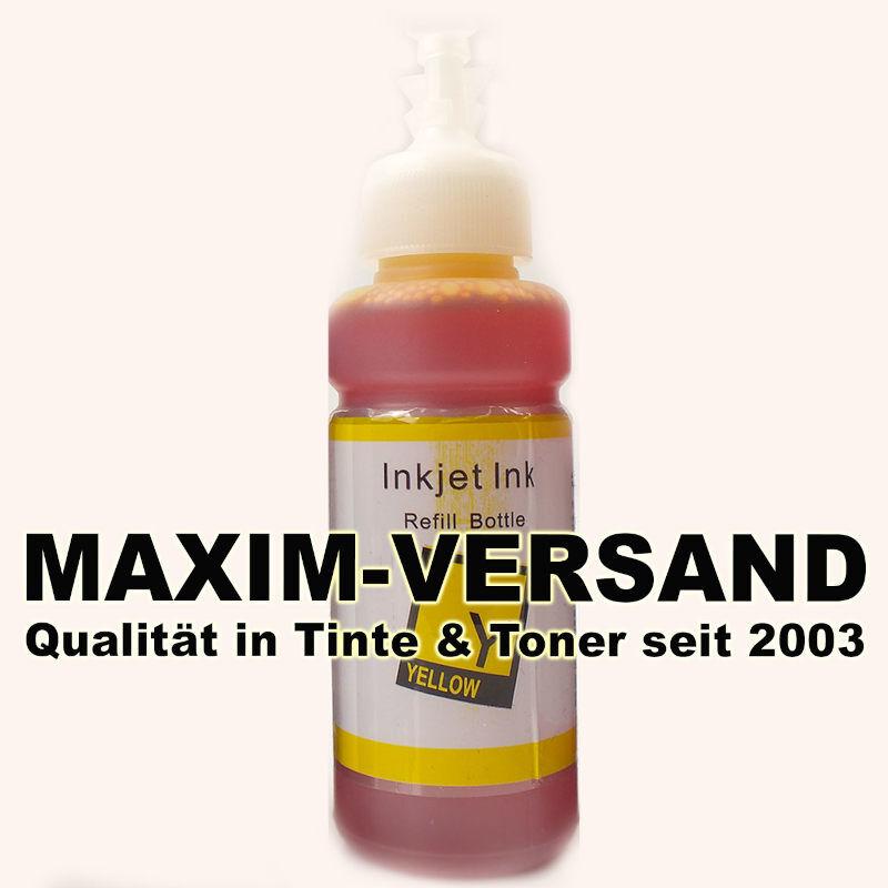 Tinten-Flasche ersetzt Epson EcoTank 664 - T6644 - yellow / gelb - 70 ml