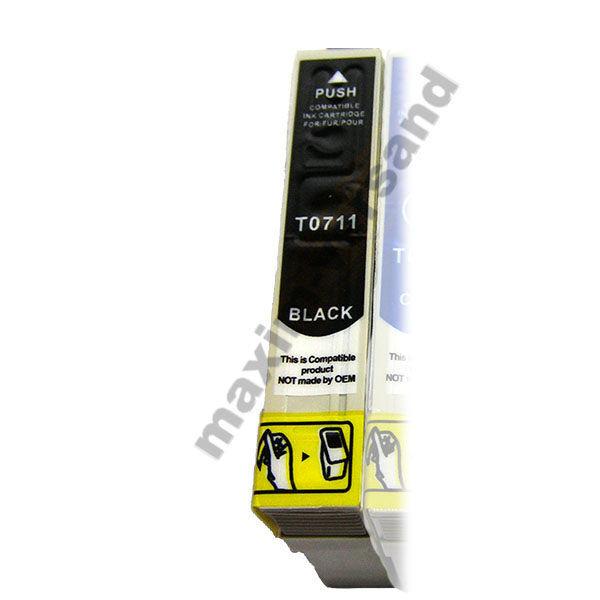 Epson T0711 - kompatibel - schwarz / black - mit Chip