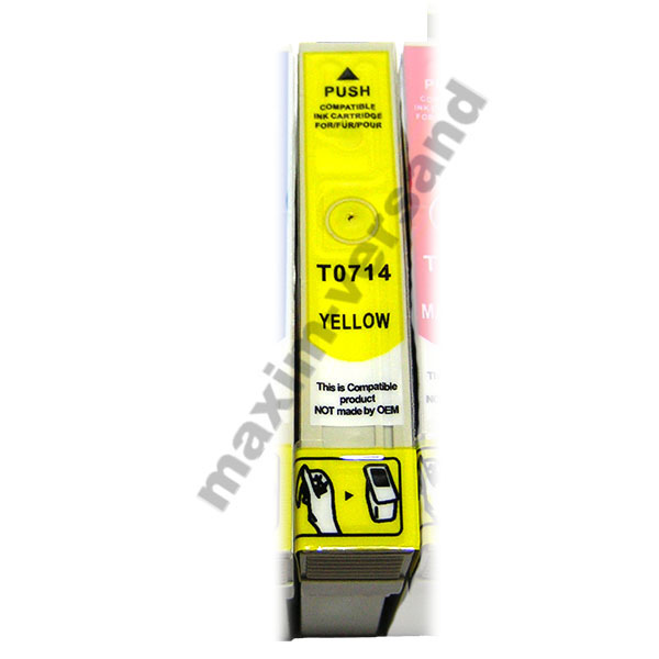 Epson T0714 - kompatibel - yellow / gelb