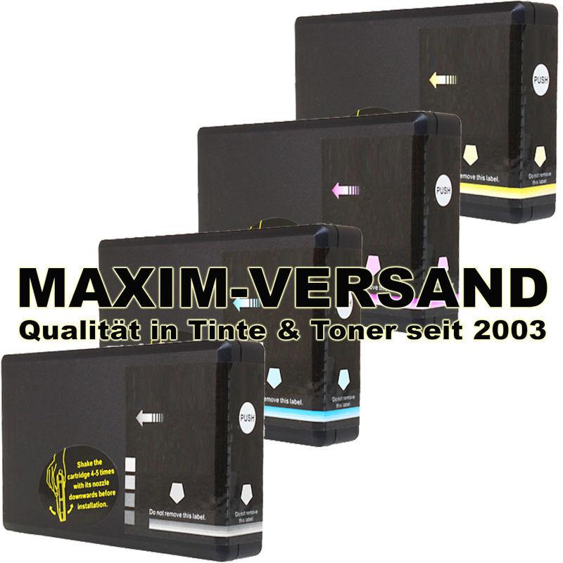 Patronen für Epson T7891, T7892, T7893, T7894 XXL (groß) kompatibel (4er Set)