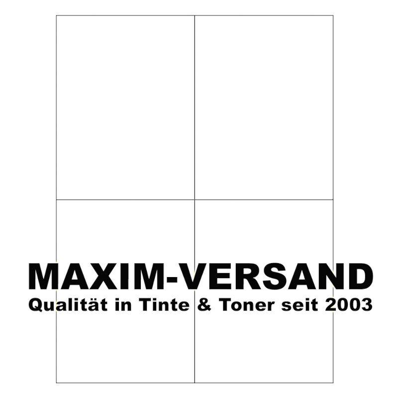Office: Etiketten (4 auf A4), selbstklebend, Papier, weiß, 105 x 148,5 mm