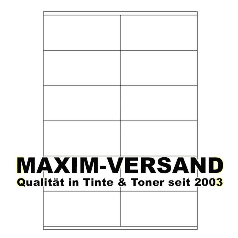 Office: Etiketten (12 auf A4), selbstklebend, Papier, weiß, 105 x 48 mm x 2